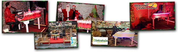 collage kerst entertainment piano